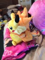 Side View Plush Of Pikachu Cosplay Plush by OceanMelodyUnicorn