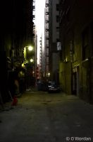 Los Angeles Alley 7am by Seanoriordan