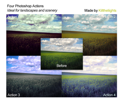 Landscape and Scenery Actions by killtheliights