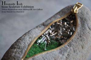 Invitation of the solo exhibition by jiyuseki