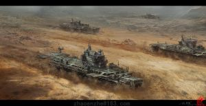 Desert Fleet by zhaoenzhe
