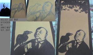 Hitch and the Birds - WIP by anniemae04