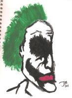 Joker Painting from Art Class by jakester2008