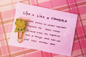 Life is Like a CAMERA by MGylleOmadto