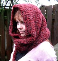 Little Red Riding Cowl Hood by PolClary
