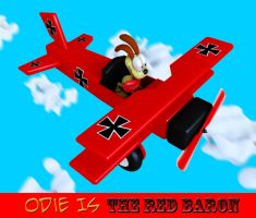 Odie as The Red Baron by Marty--McFly