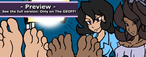 GEOFF Preview: A Sexy Feet Studio Guest by MostlyFunStuff