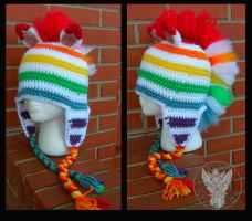 Fruit Stripe Hat by TheCrochetDragon