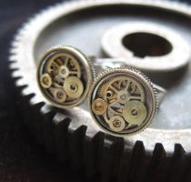 Cufflinks Model Six by AMechanicalMind