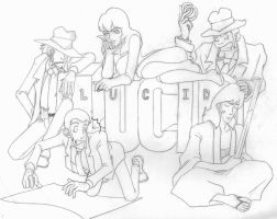 Lupin the Third Group Lucid by lshikawaGoemon