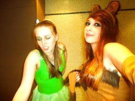 Cosplay: Tinkerbell and Simba by princess06