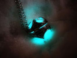 Glow in the Dark Sterling Silver Locket Pendant by MySoulShards