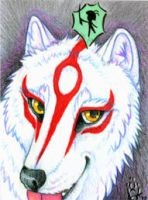 ACEO- Amaterasu and Issun by cloudstar-wolf
