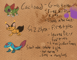 Prof. Saguaro's Journal- Cactoad/Sizzlynx/Snakuda by T-Reqs