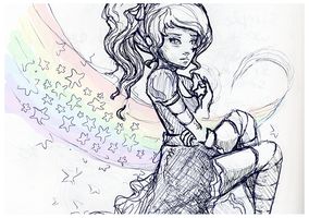 Rainbow Brite  ::Ink Drawing:: by lavonia