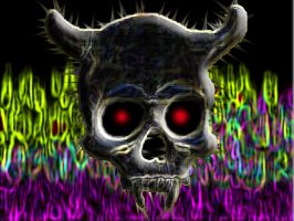 psychedelic demonskull by life-is-trippy