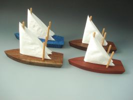 Napkin Boats by Sp00ntaneous