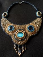 'Horus' - bead embroidery necklace by nikkichou