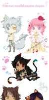 Adoptables Nekomimi characters :CLOSED: by bibi-chan