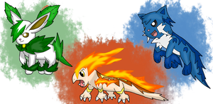 Second Evolution of the Starters by Cyua0089