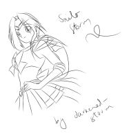 Sailor Storm Lineart by darkened-storm