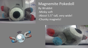 Magnemite Mock Pokedoll by theamazingwrabbit