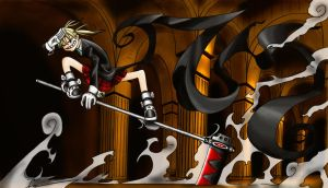 Maka and soul whit black blood by SigfriedX