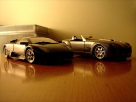 murcielago vs shelby cobra by vudin