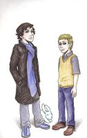 Kids-Sherlock and John by BrerBunny13