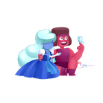Ruby and Sapphire ~ Here Comes A Thought by xLuminaa