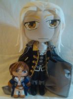Alucard and Richter Plushies by mihijime