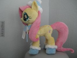 Fluttershy custom plush - Winter outfit by GreenTeaCreations