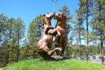 Fighting Horses at Crazy Horse Monument Park by Trisaw1