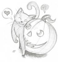 Day Thirty - Pumpkin Patch Kitten by ChillyAcademicIV