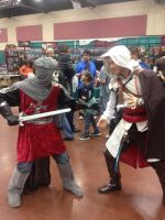 Assassin's Creed: Templar and Ezio by Romantically-Geeky