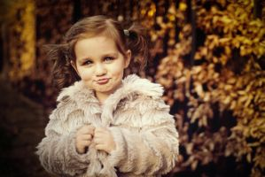 Little girl with fur by monikha
