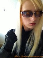Female Midnight Albert Wesker cosplay by MasterCyclonis1