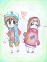 Dipper and Mable by Beat-of-Silence