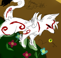 Random Okami Sketch by insanityNothing