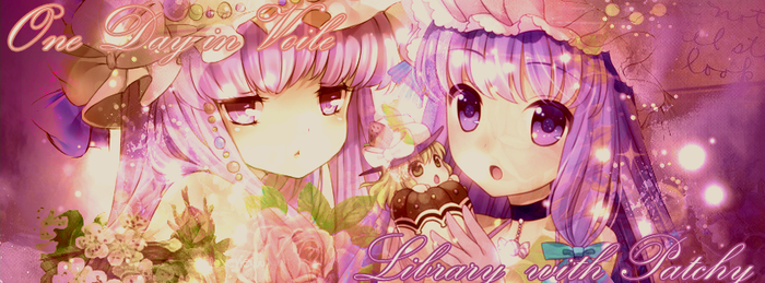 One Day in Voile Library with Patchy by epeldoll