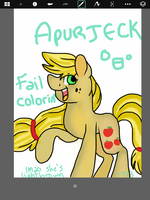 I DREW APPLEJACK ON MY IPAD by spongebob778