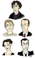 Sherlock sketches by monkette