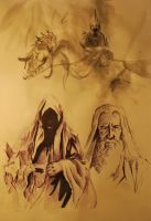 LOTR sketches by TheTundraGhost