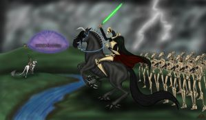 Battle of Naboo by Demonic-Chaos