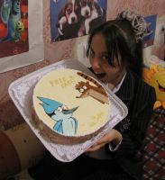 Regular Show Free Cake by yinlin1994