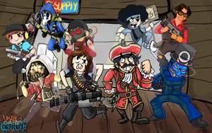 [MEGA COLLAB] TEAM FORTRESS 2 , FIGHT ROBOT'S ! by ArtedeNacho