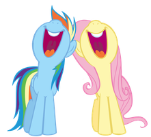 Flutters and Dashie singing by theklocko