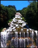 Waterfall behind the Palace by Chocolatewaffles659