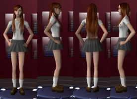 Orihime Inoue in the Sims 2 by egyptianpanda