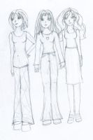 Bella, Jonna and Zelda (old work 01) by Konturer